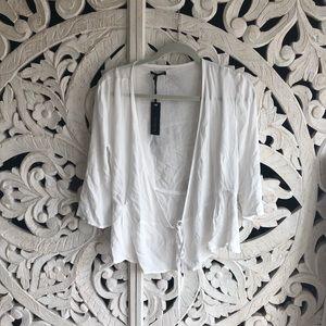 WHITE TIE SHIRT
